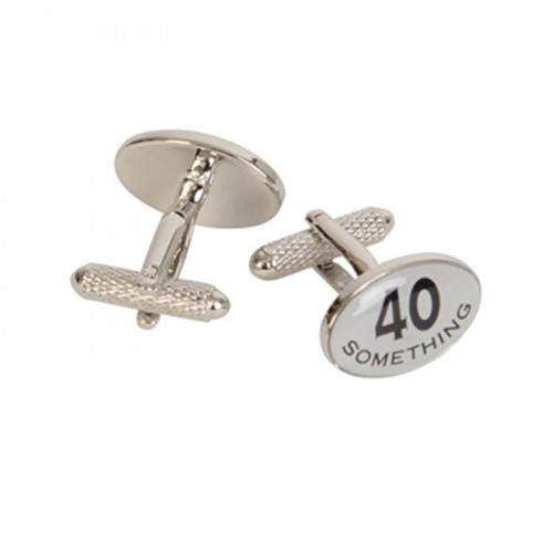 40 Something 40th Birthday Cufflinks in Gift Box
