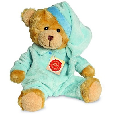 Teddy Hermann Blue Pyjama Bear Plush Soft Toy