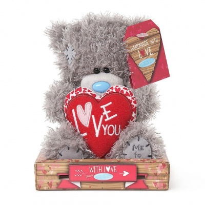 7'' Love You Padded Heart Me to You Bear