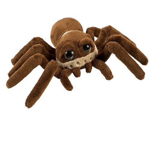 Petjes Spider Furry Brown Soft Toy