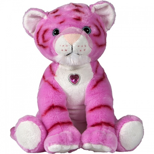 Petjes Girly Tiger Pink Soft Toy