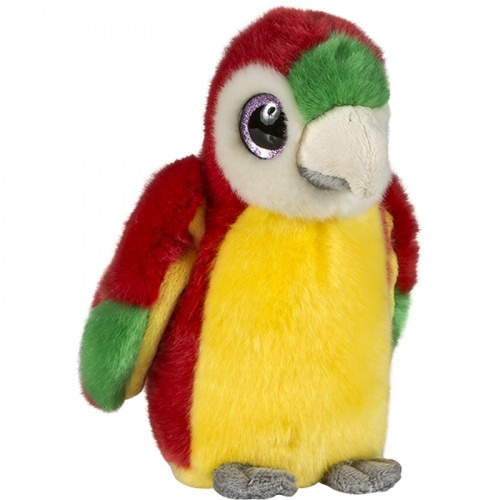 Petjes Glitter Eyes Parrot Yellow/Red Soft Toy
