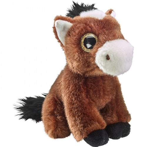 Petjes Glitter Eyes Horse Brown Soft Toy