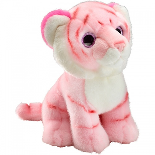 Petjes Glitter Eyes Tiger Pink Large Soft Toy