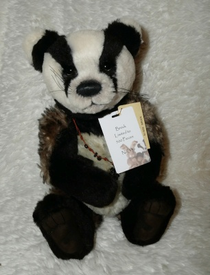 Charlie Bears Isabelle Brock 2013 Limited Edition Badger Teddy Bear