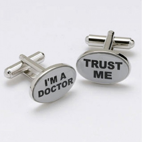 I m a Doctor Trust Me Novelty Cufflinks