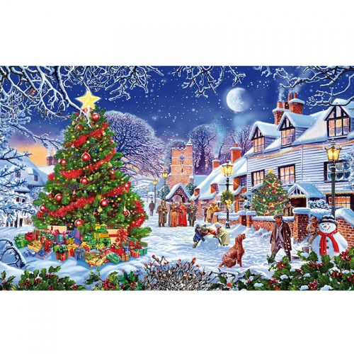 Wentworth Christmas Village 250 Piece Laser Cut Wooden Jigsaw Puzzle