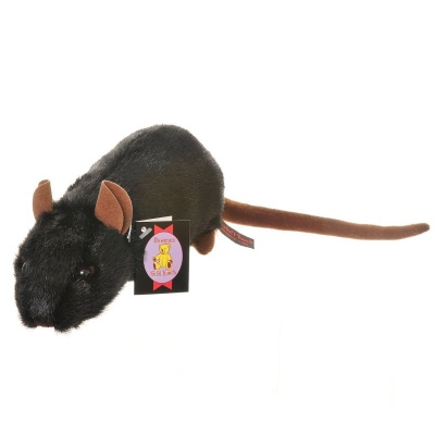 Dowman Black Rat 23cm Plush Soft Toy