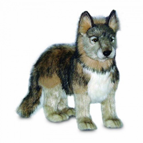 Hansa Life-Like Standing Wolf Soft Toy