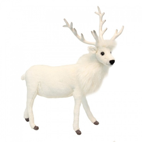 Hansa Red White Reindeer Soft Toy