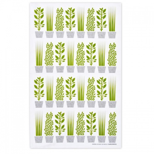 Jangneus Green Herbs Tea Towel