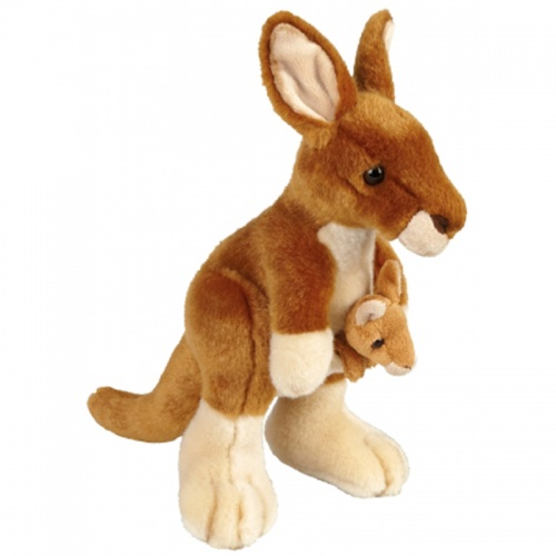 Ravensden Kangaroo With Baby Joey Plush Soft Toy Animal