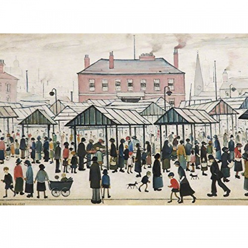 Wentworth Market Scene 250 Piece Laser Cut Wooden Jigsaw Puzzle