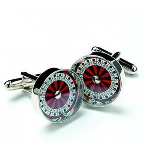 Mens Roulette Wheel Design Cufflinks