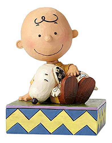 Peanuts Charlie Brown With Snoopy Figurine By Jim Shore