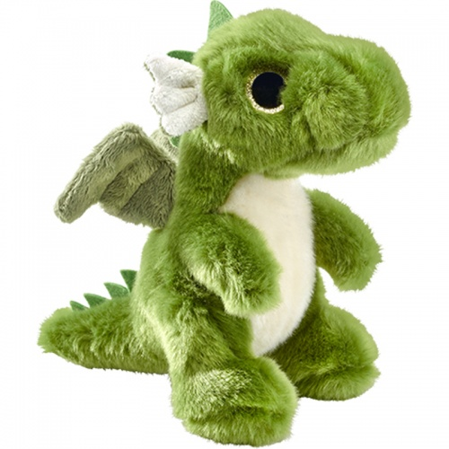 Petjes Glitter Eyes Dragon Green Soft Toy