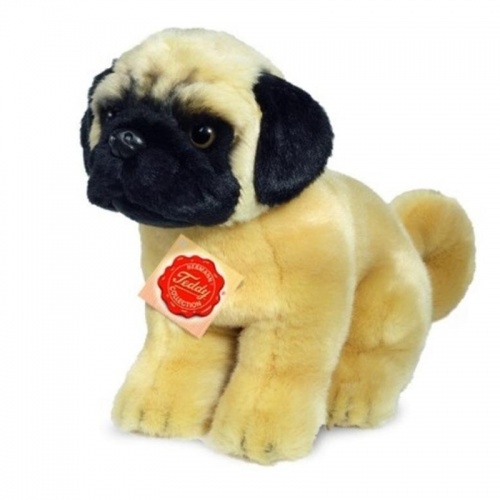 Teddy Hermann Pug Sitting Plush Soft Toy Dog
