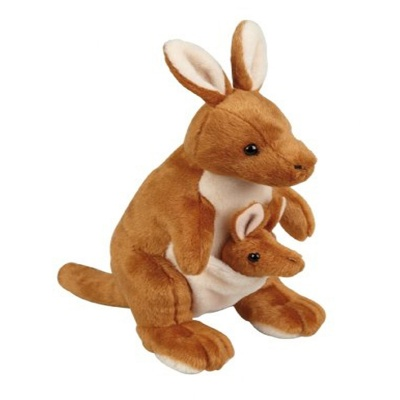 Ravensden Kangaroo With Joey Plush Soft Toy
