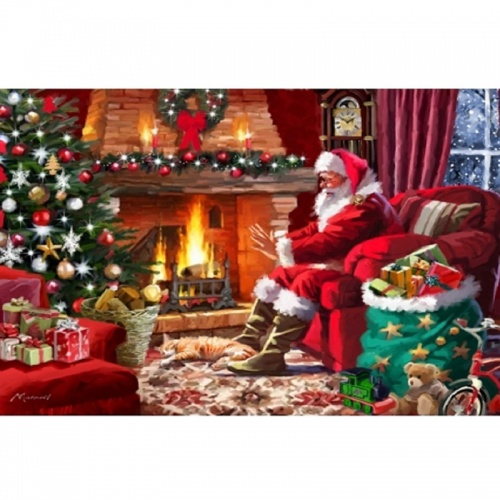 Wentworth Santa by the Fire 250 Piece Laser Cut Wooden Jigsaw Puzzle