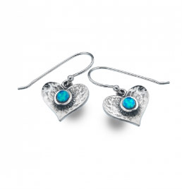 Sea Gems Blue Heart Earrings