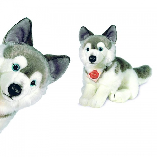Teddy Hermann Sitting Husky Plush Soft Toy Dog