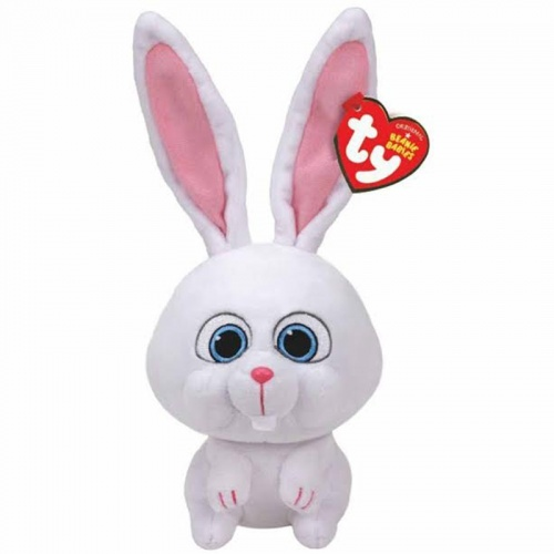 TY Secret Life Of Pets Snowball Rabbit Beanie Boo