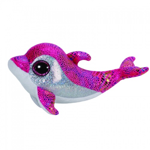TY Beanie Boo Sparkles Pink Dolphin Plush Soft Toy Animal