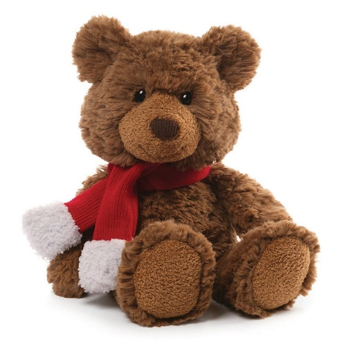 Gund Seasonal Ziggy Brown Bear Small Soft Toy