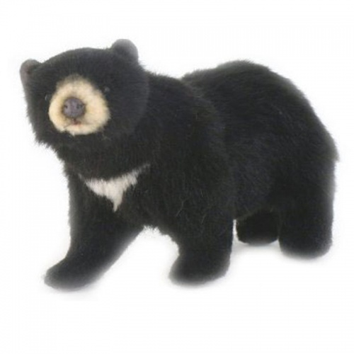 Hansa Mini Black Bear Plush Soft Toy