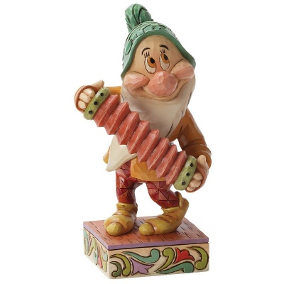 Affable Accordionist Bashful Figurine