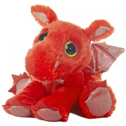 Aurora Dreamy Eyes Flame Dragon Red Plush Soft Toy Animal