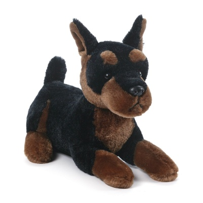 Gund Ebony Doberman Pinscher Plush Soft Toy Dog