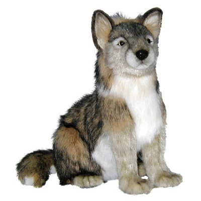 Hansa Life-Like Seated Wolf Cub Soft Toy