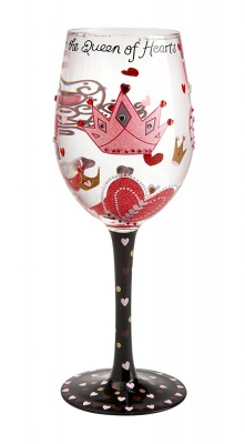 Lolita Multi-coloured Wine Glass Queen Of Hearts