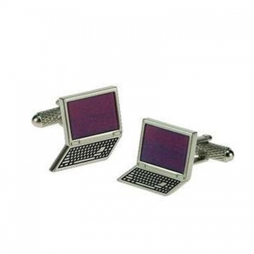 Mens Designer Laptop Computer Cufflinks