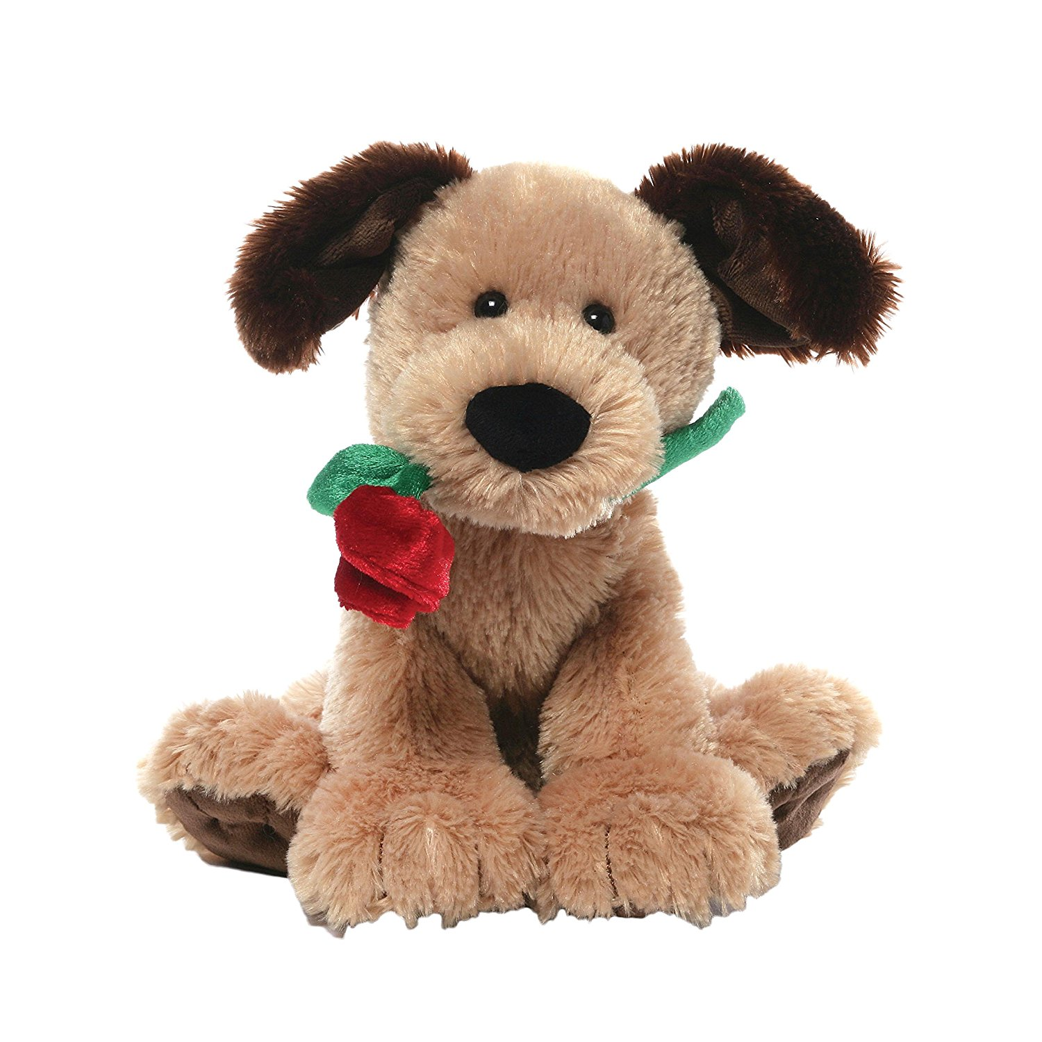 Dog Valentine Toys : Gund deangelo dog with rose soft toy dragon toys teddy