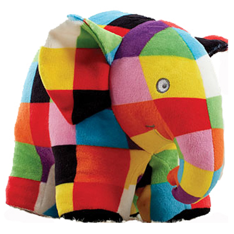 Elmer The Patchwork Elephant 18cm Dragon Toys Teddy