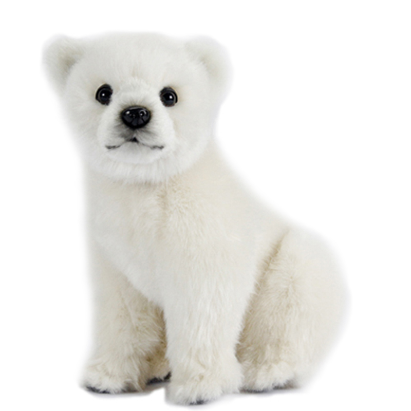 Polar Bear Toys : Polar bear cub cm plush soft toy by hansa dragon toys