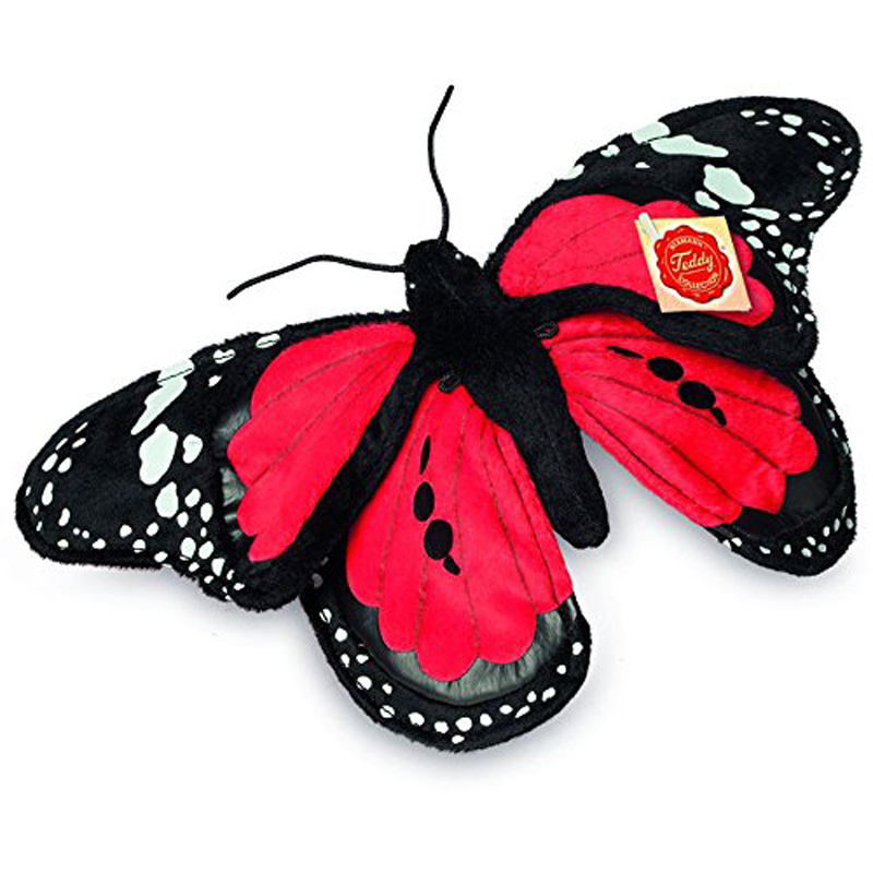 teddy hermann red butterfly 30cm soft toy