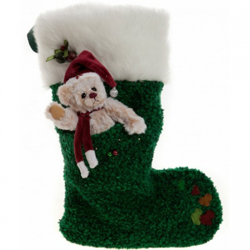 Charlie Bears 2015 Tree Green Stocking