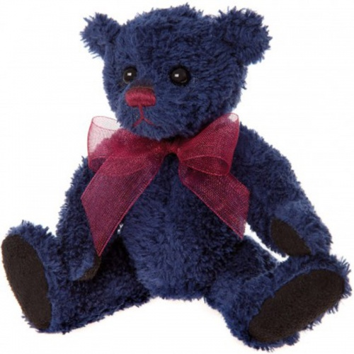 Charlie Bears Keyring - Denim Teddy Bear Keyring