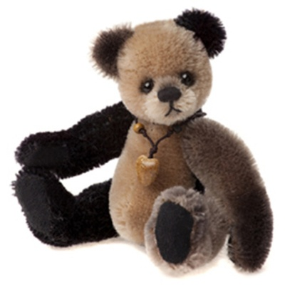 Charlie Bears Loafer Mohair Keyring Teddy Bear