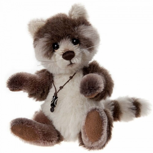 Charlie Bears Minimo Pitter Patter Mohair Raccoon Teddy Bear