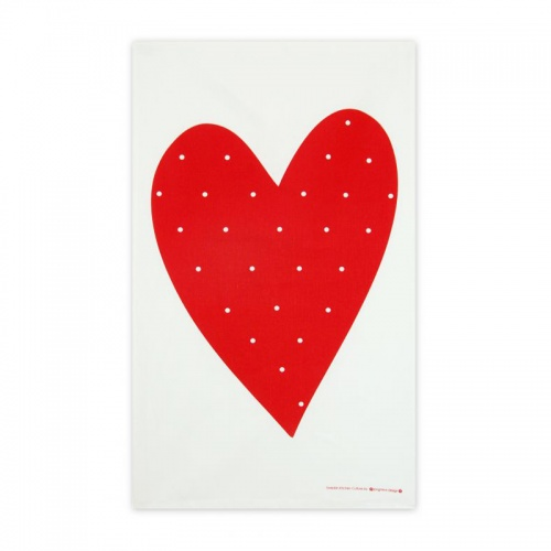 Jangneus Red Heart Tea Towel