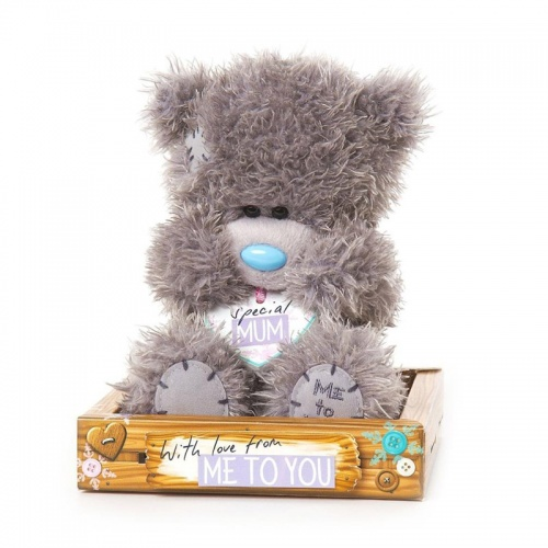 Me to You Special Mum White Heart With Message Bear