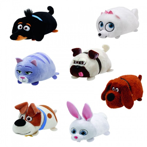 Teeny TY's Secret Life Of Pets Set Of 7 Soft Toys