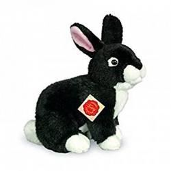 Teddy Hermann Black Rabbit Sitting Plush Soft Toy Animal