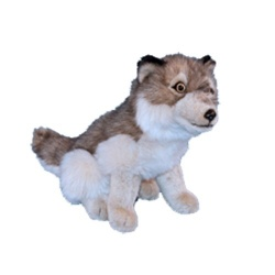Dowman Sitting Wolf 30cm Plush Soft Toy