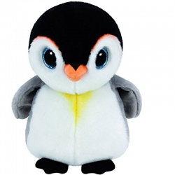 TY Glitter Eye Beanie Classic Pongo Plush Toy Penguin