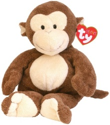 TY UK Pluffie Dangles Monkey Soft Toy